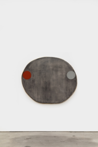 Otis Jones Large Gray with One Gray and One Red Oxide, 2021 Acrylic on linen on wood 47 1/2 x 56 x 4 in 120.7 x 142.2 x 10.2 cm (OJO21.002)