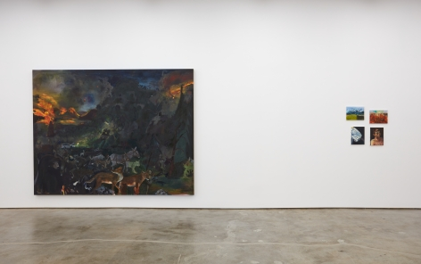 Installation view of Celeste Dupuy-Spencer: The Chiefest of Ten Thousand (September 22-November 3, 2018), Nino Mier Gallery, Los Angeles