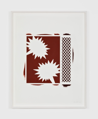 Thomas Wachholz  Untitled, 2021Red phosphorus and acrylic on paper  24 3/4 x 18 7/8 in63 x 48 cm(TW21.002)