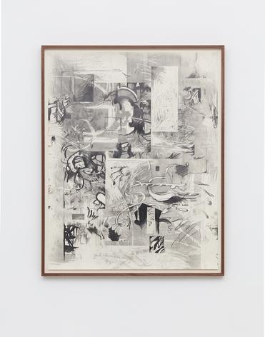 Jan-Ole Schiemann, Osc Mix (series), 2016, graphite powder on paper, 37.5 x 29.75 in (95.25 x 75.6 cm) (framed), JS16.037