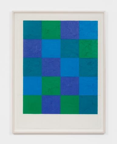 Dashiell Manley grid, 2021 Oil stick on paper 22 x 30 in 55.9 x 76.2 cm (DMA21.015)