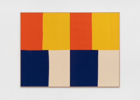 Ethan Cook Enough Space, Enough Color, 2020. Hand woven cotton and linen, framed 72 x 96 in, 182.9 x 243.8 cm (ECO20.016)