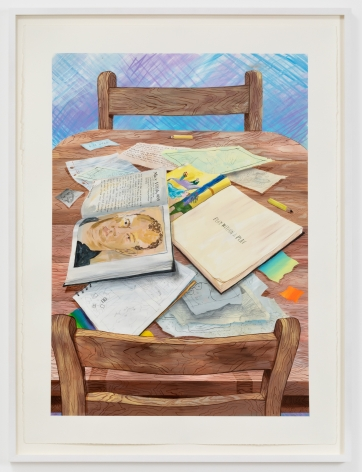 Rebecca Ness, Play Within a Play, 2020. Gouache and graphite on paper, 30 x 22 in, 76.2 x 55.9 cm, 32 3/4 x 24 5/8 in (framed), 83.2 x 62.5 cm (RNE20.023)