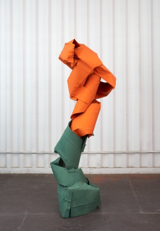 Anna Fasshauer, Baal, 2018. Aluminum, lacquer, 73 1/4 x 35 3/8 x 25 5/8 in, 186 x 90 x 65 cm (AF18.003)