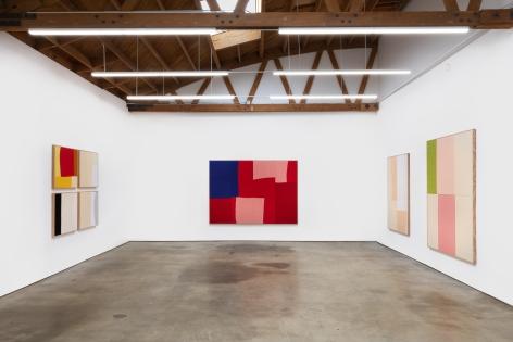 Installation View of Ethan Cook: Arenas (October 24–November 21, 2020). Nino Mier Gallery, Los Angeles, CA