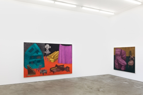 "Installation View of ""Behind the Curtain"" and ""A Place of Our Own"""