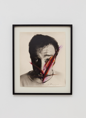 Arnulf Rainer, Winkel, 1971-1973, Oilstick, ink, oil on photograph, 23 5/8 x 19 3/4 in (60 x 50 cm), ARA19.006