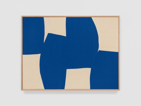 Ethan Cook Body Building, 2021 Handwoven Cotton and linen, framed 30 x 40 inches 76.2 x 101.6 cms (ECO21.037)