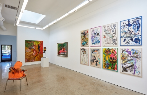 Installation View 3 of Aidas Bareikis, Kim Dorland & Bill Saylor (June 25, 2016 – August 6, 2016). Nino Mier Gallery, Los Angeles, CA