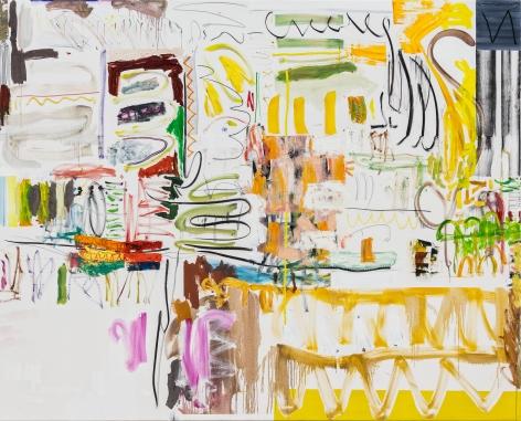 Andreas Breunig, Hi_LoRes No83, 2019, Oil, graphite, charcoal on canvas, 82 5/8 x 102 3/8 in (210 x 260 cm), ABR19.029