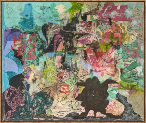 Michael Bauer Supernature 1998, 2018 Oil, oil pastel, acrylic, charcoal on canvas 32 x 38 in 81.3 x 96.5 cm (MB18.001)