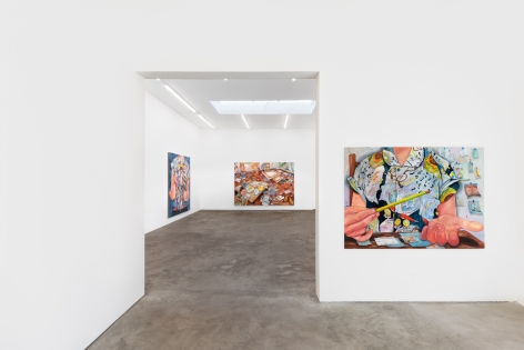 Installation View 3 of Rebecca Ness: Pieces of Mind (July 10–August 31, 2020). Nino Mier Gallery, Los Angeles, CA