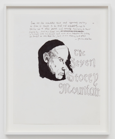 Celeste Dupuy-Spencer Thomas Merton, 2018 Pen and pencil on paper 14 x 11 in (CDS18.013)