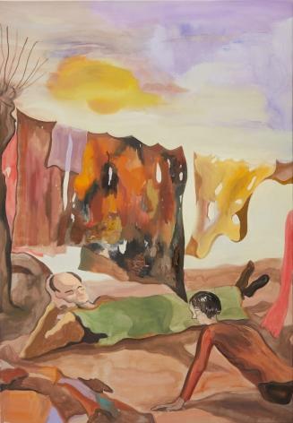 Tomasz Kowalski, TBT,  2018. Oil on canvas, 70 7/8 x 49 1/4 x 1 5/8 in, 180 x 125 x 4 cm (TKO18.004)