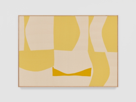 Ethan Cook Woo, 2021 Handwoven cotton and linen, framed 50 x 70 in 127 x 177.8 cm (ECO21.022)