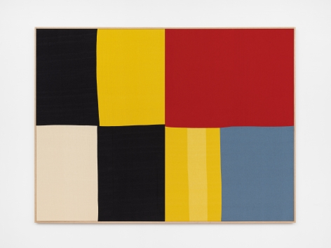 Ethan Cook, Düsseldorf, 2020. Hand woven cotton and linen, framed 60 x 80 in, 152.4 x 203.2 cm (ECO20.034)