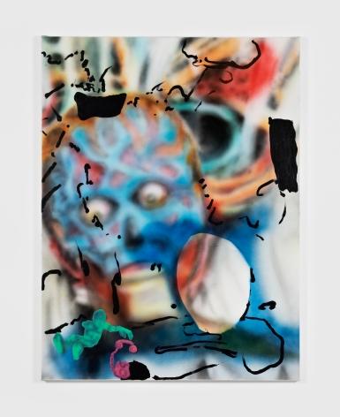 Antwan Horfee Ebay John Collage, 2021 Acrylic on canvas 47 1/4 x 35 3/8 in 120 x 90 cm (HOR21.012)