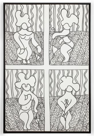 William N. Copley, Strip Tease, 1961. Oil on canvas, 57 1/8 x 38 1/4 in, 145.1 x 97.2 cm (WC20.011)