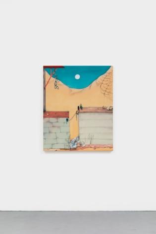 Fabian Treiber Trespass, 2021 Acrylic, ink and oil pastel on canvas 43 1/2 x 35 1/2 in 110.5 x 90.2 cm (FTR21.001)
