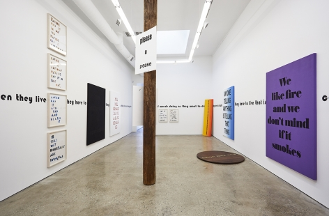 Installation View 5 of Eve Fowler the difference is spreading (May 22–July 3, 2015). Nino Mier Gallery, Los Angeles, CA