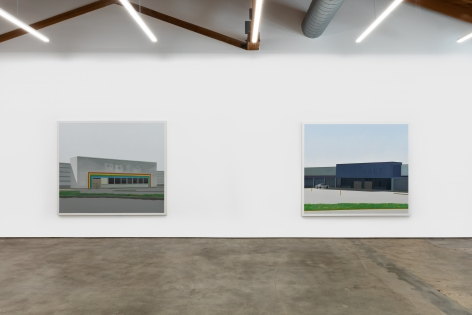 "Installation View of ""Peach Tree Drive"", and ""Homestead Avenue"""