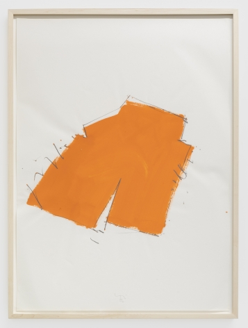 Imi Knoebel Untitled, 1976 Oil and graphite on paper 39 3/8 x 27 1/2 in 100 x 70 cm (IK76.003)
