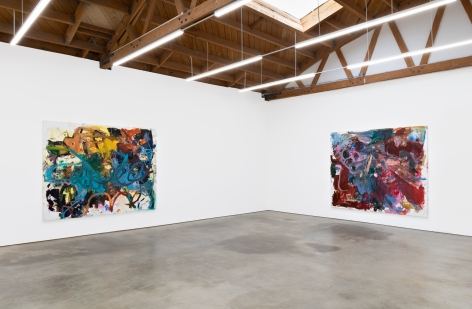 """Installation View of """"Eye Beep"""" and """"Bigger Anke Weyer Painting"""""""