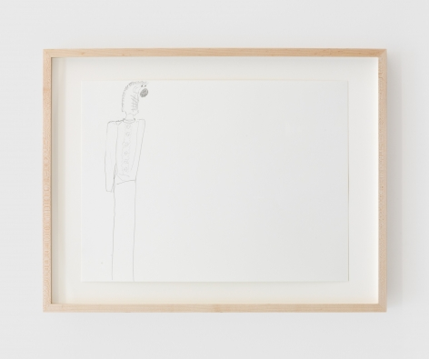 Ulrich Wulff, Untitled, 2019, Graphite on paper, 11 1/2 x 15 3/4 in (29.2 x 40 cm), UWU19.011