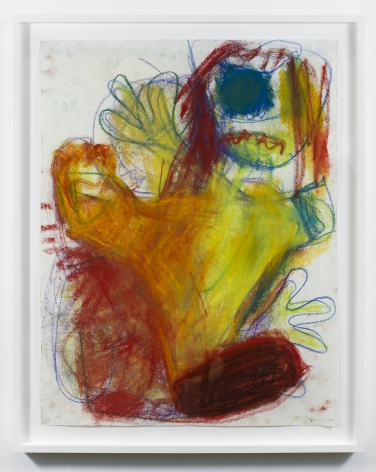 Anke Weyer, Untitled, 2018, Oil pastel on paper, 25 x 19 in, 63.5 x 48.3 cm (AW18.002)