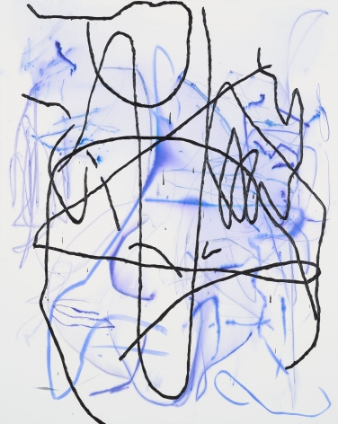 Jana Schröder, Spontacts GO 10, 2017. Copying pencil and oil on canvas, 78.7 x 63 inches, 200 x 160 cm (JSR17.003)
