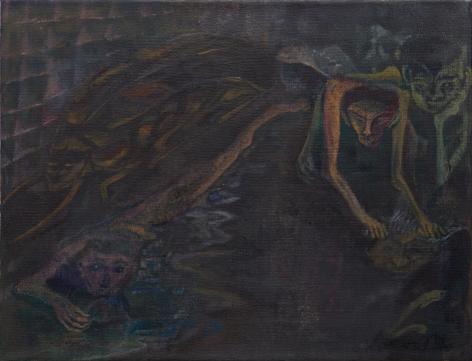 Tomasz Kowalski, TBT, 2018. Oil on canvas, 18 x 23 5/8 in, 45.7 x 60 cm (TKO18.028)