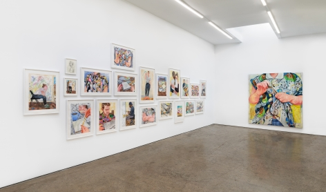 Installation View 1 of Rebecca Ness: Pieces of Mind (July 10–August 31, 2020). Nino Mier Gallery, Los Angeles, CA