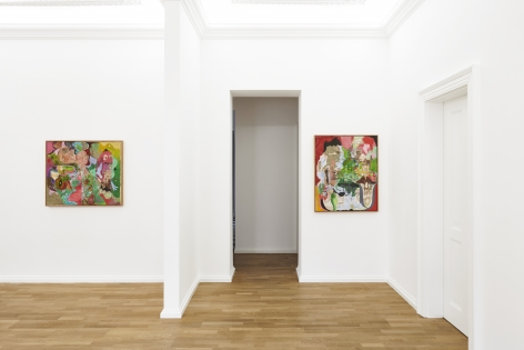 Installation view 2 of Michael Bauer: New Paintings (April 19-22, 2018) at Salon Nino Mier, Cologne