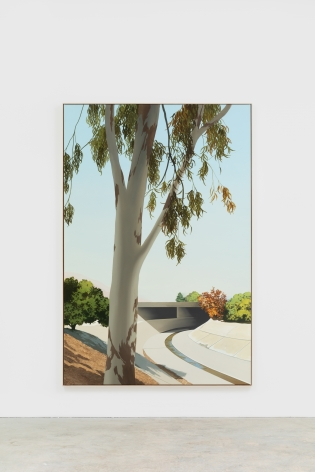 Jake Longstreth Arroyo, South Pasadena, 2021 Oil on muslin 87 x 55 in 221 x 139.7 cm (JLO21.005)