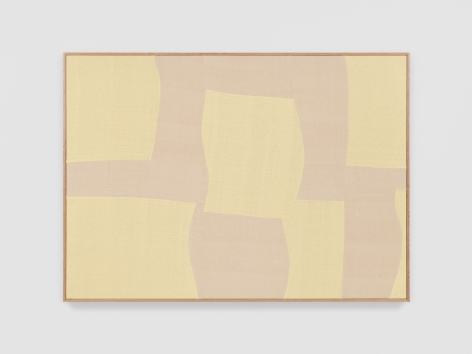 Ethan Cook Firmaments, 2021 Handwoven Cotton and linen, framed 50 x 70 inches 127 x 177.8 cms (ECO21.025)