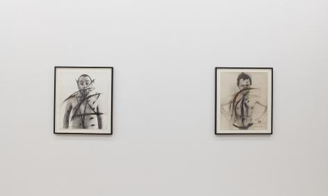 """Installation View of """"Siegel Sagel…."""" and """"Eine phantastische Erinnerung….."""""""