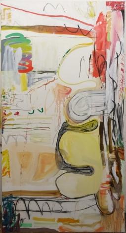 Andreas Breunig, Body Possibility No9, 2019, Oil, graphite, charcoal on canvas, 82 5/8 x 70 7/8 in (230 x 120 cm), ABR19.032