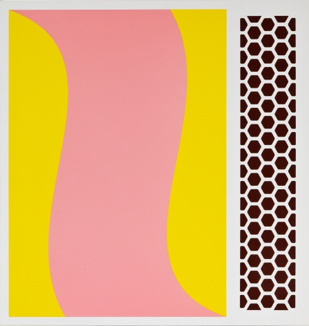Thomas Wachholz, Swingo, 2019. red phosphorus and acrylic on canvas, 43.3 x 41.3 x 1.4 in, 110 x 105 x 3.6 cm (TW19.009)