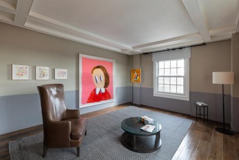 André Butzer, FELIX LA 2019, Installation view, Left view