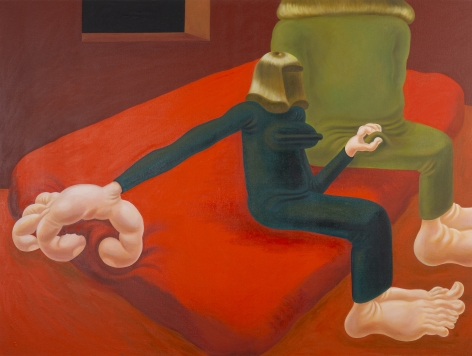 Louise Bonnet Red Bed, 2019 Oil on linen 72 x 96 in 182.9 x 243.8 cm (LB19.007)