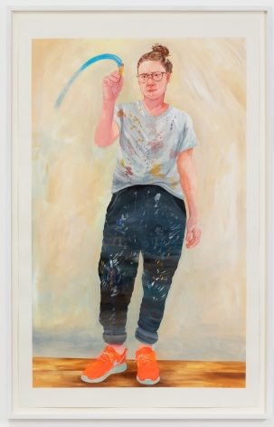 Rebecca Ness, What a Painting Sees, 2020. Gouache on paper, 40 x 25 in ,101.6 x 63.5 cm, 42 1/2 x 27 1/4 in, (framed), 108 x 69.2 cm (RNE20.016)