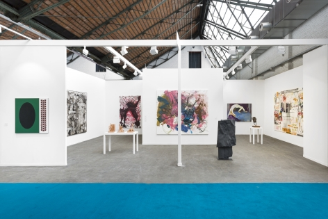 Art Brussels 2019, Wide installation view of the entire booth