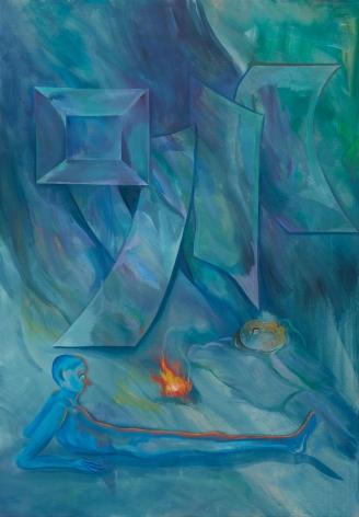 Tomasz Kowalski, TBT, 2018. Oil on canvas, 65 x 45 1/4 x 1 5/8 in, 165 x 115 x 4 cm (TKO18.002)