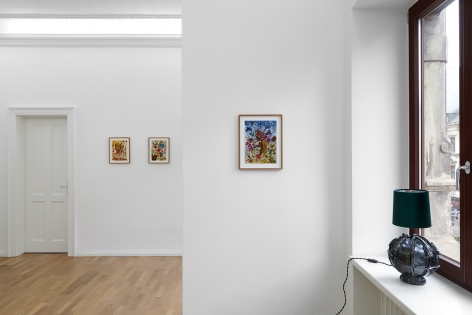 Installation view of Jan-Ole Schiemann's, Are you relevant my friend?, (March 21-April 10, 2021). Salon Nino Mier Cologne