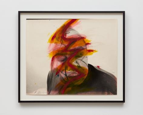 Arnulf Rainer, A…, circa 1970-74, Oil on photo, 19 7/8 x 23 7/8 in (50.5 x 60.5 cm), ARA18.002