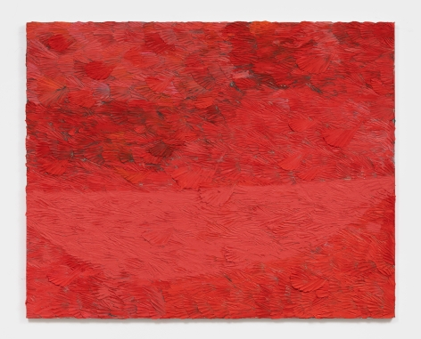 Dashiell Manley longer boats (red spaceship), 2021 Oil on linen 48 x 60 in 121.9 x 152.4 cm (DMA21.012)