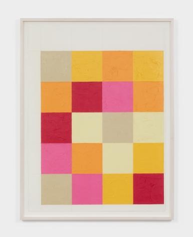 Dashiell Manley grid, 2021 Oil stick on paper 22 x 30 in 55.9 x 76.2 cm (DMA21.016)