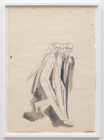 Tomasz Kowalski, Untitled, 2018. Watercolor on paper, 24 x 17 in, 61 x 43.2 cm (TKO18.019)