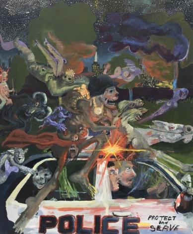 Celeste Dupuy-Spencer Not Today Satan, 2017 Oil on linen 35 x 28 in 88.9 x 71.1 cm (CDS17.031)