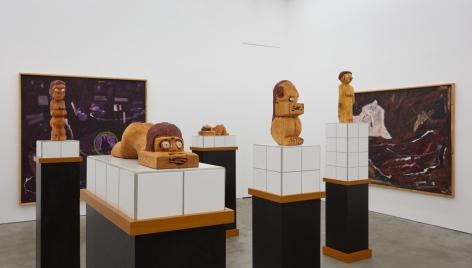 "Installation View of ""Damenbad KPX"" series of sculptures, highlighting ""Damenbad KPX (Annette)"""